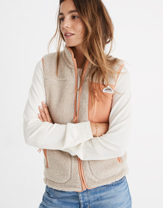 Madewell x Penfield® Lucan Fleece Vest in ivory pink image 1