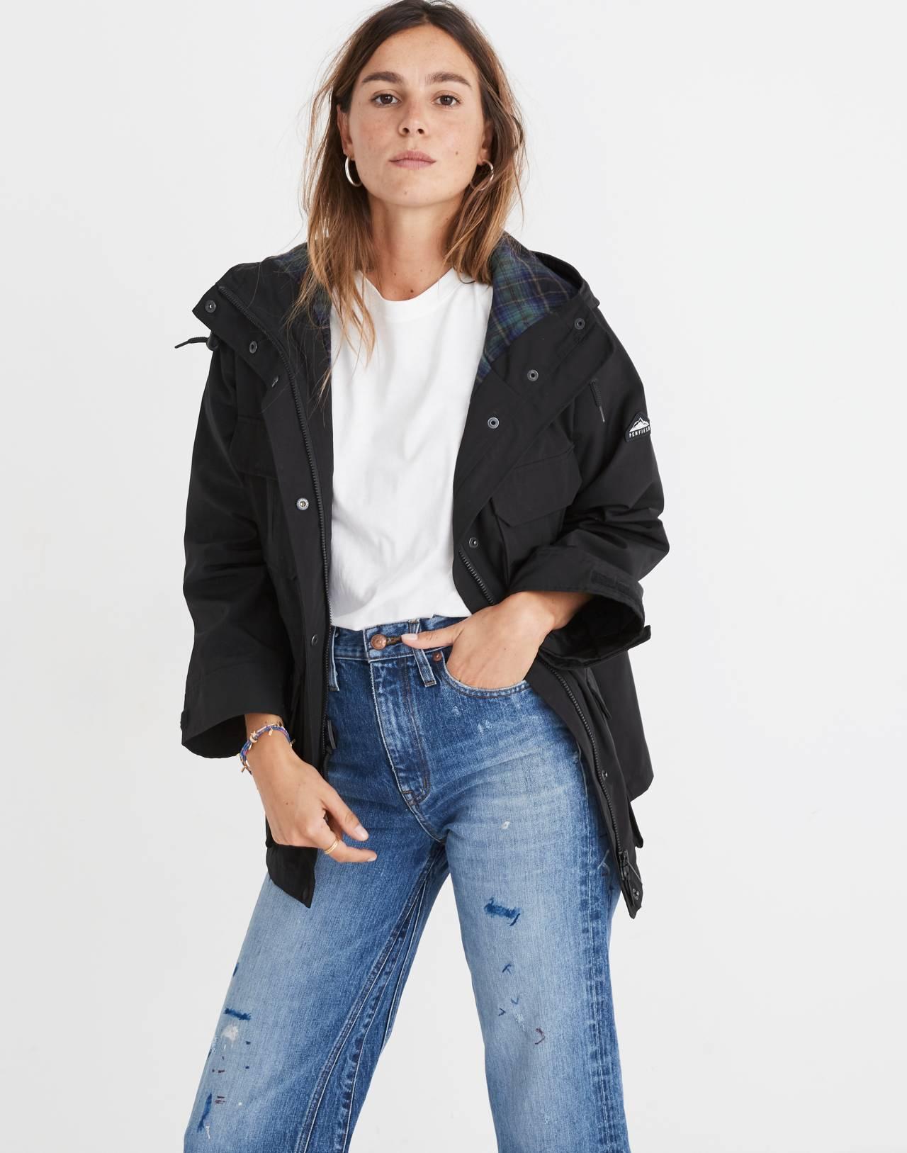 Madewell x Penfield® Medbury Jacket in black image 2