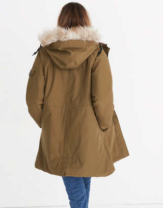Madewell x Penfield® Deerfield A-Line Parka in olive image 3