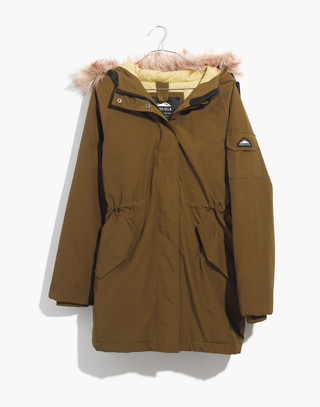 Madewell x Penfield® Deerfield A-Line Parka in olive image 4