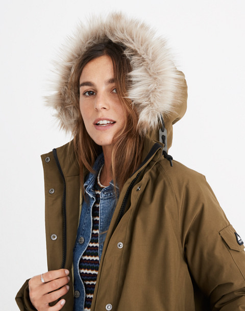 Madewell x Penfield® Deerfield A-Line Parka in olive image 1