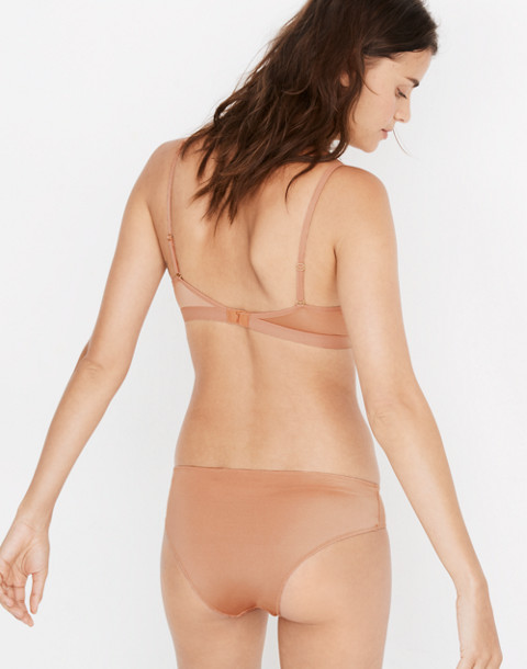 Satin Emily Bralette in dusty clay image 3