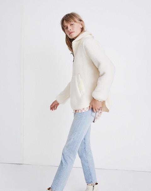 Polartec® Fleece Popover Jacket in antique cream image 2