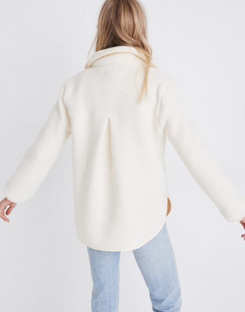 Polartec® Fleece Popover Jacket in antique cream image 3