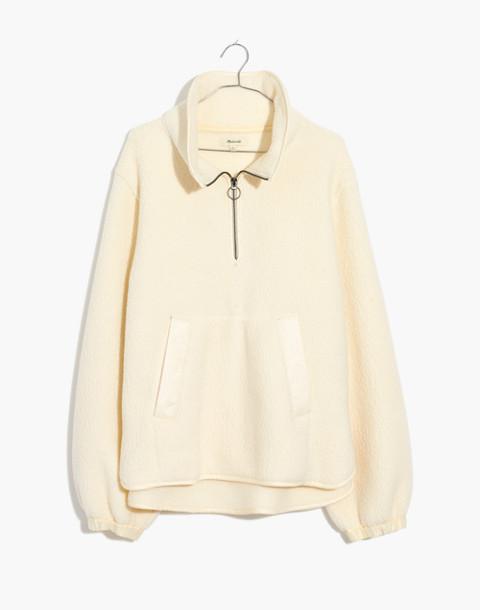 Polartec® Fleece Popover Jacket in antique cream image 4