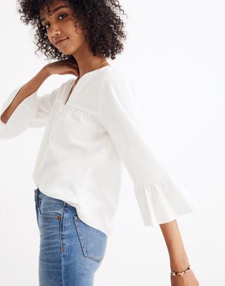 Veranda Bell-Sleeve Shirt in pure white image 2