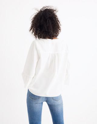Veranda Bell-Sleeve Shirt in pure white image 3
