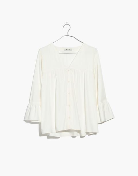 Veranda Bell-Sleeve Shirt in pure white image 4