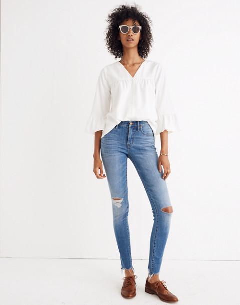 Veranda Bell-Sleeve Shirt in pure white image 1