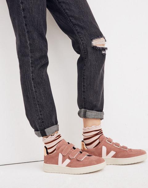 Veja™ V-12 Velcro® Sneakers in Dried Petal in dried petal image 2