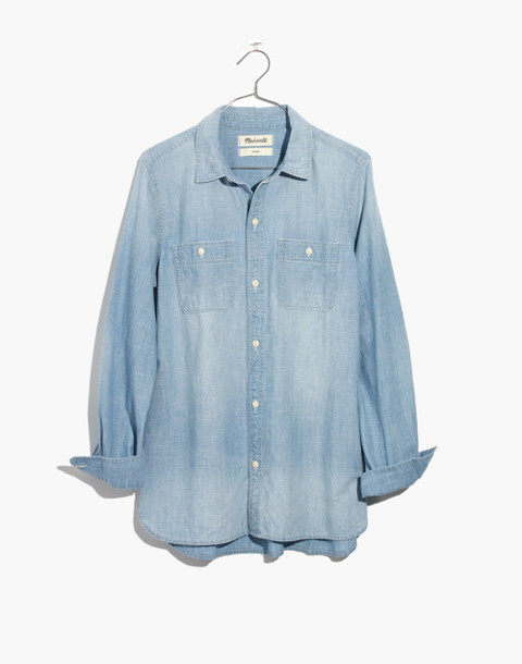Chambray Classic Ex-Boyfriend Shirt in Evie Wash in evie wash image 4