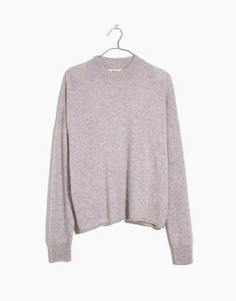 Cashmere Mockneck Sweater in hthr cloud image 4