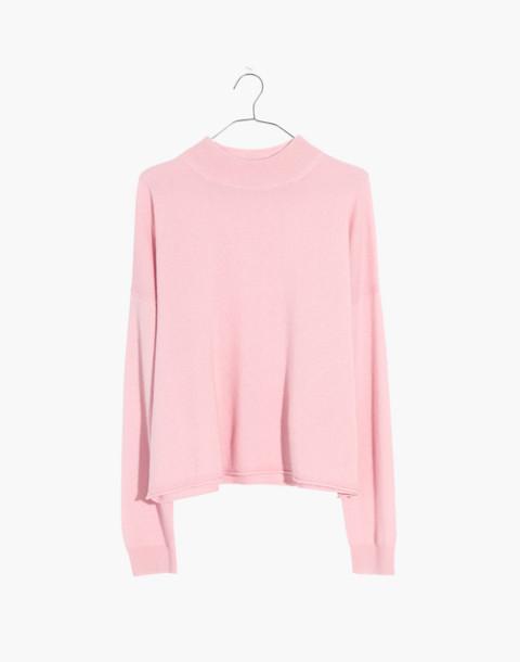 Cashmere Mockneck Sweater in pink sorbet image 1