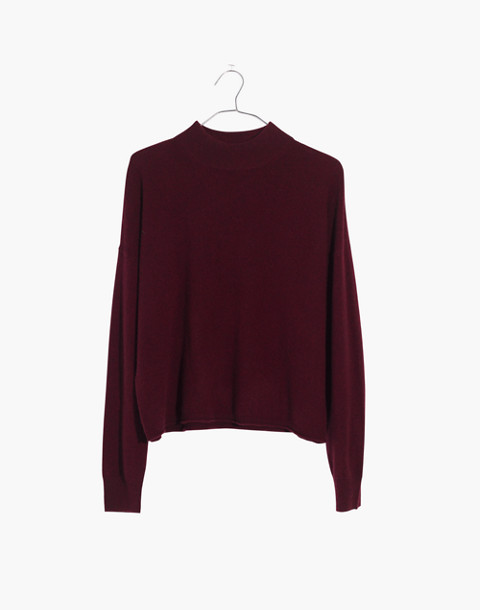 Cashmere Mockneck Sweater in hthr shiraz image 1