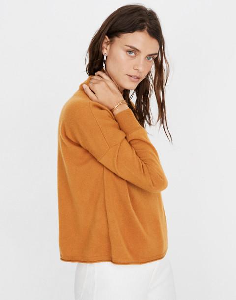 Cashmere Mockneck Sweater in bittersweet image 3
