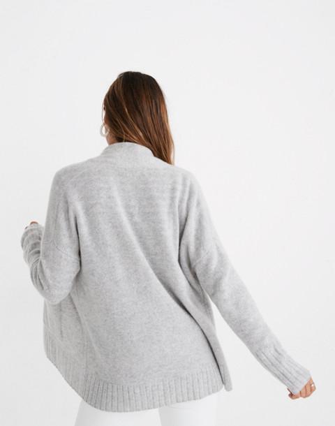 Cashmere Shawl-Collar Cardigan Sweater in hthr cloud image 2