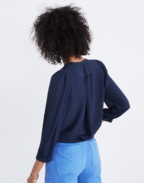 Wrap Top in Deep Indigo in deep indigo image 3