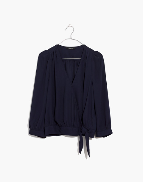 Wrap Top in Deep Indigo in deep indigo image 4