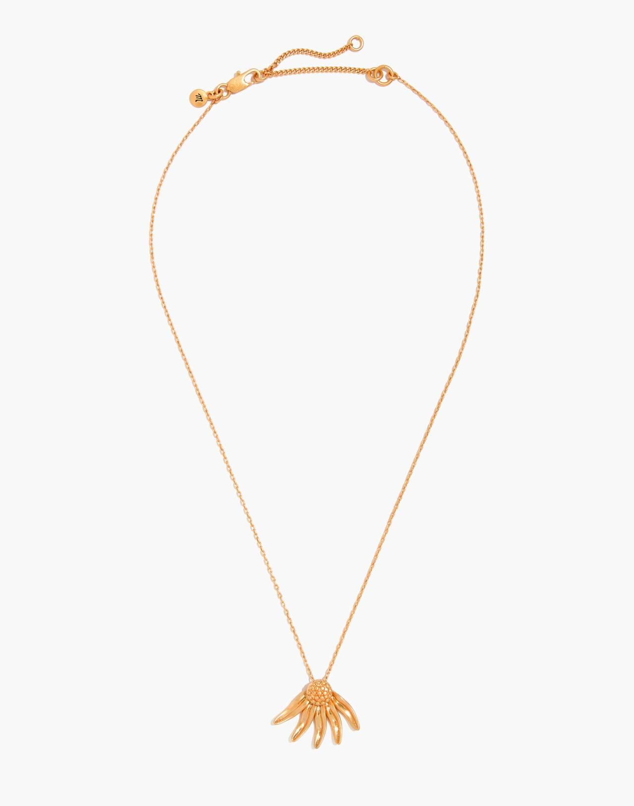 Fallen Petals Necklace in vintage gold image 2