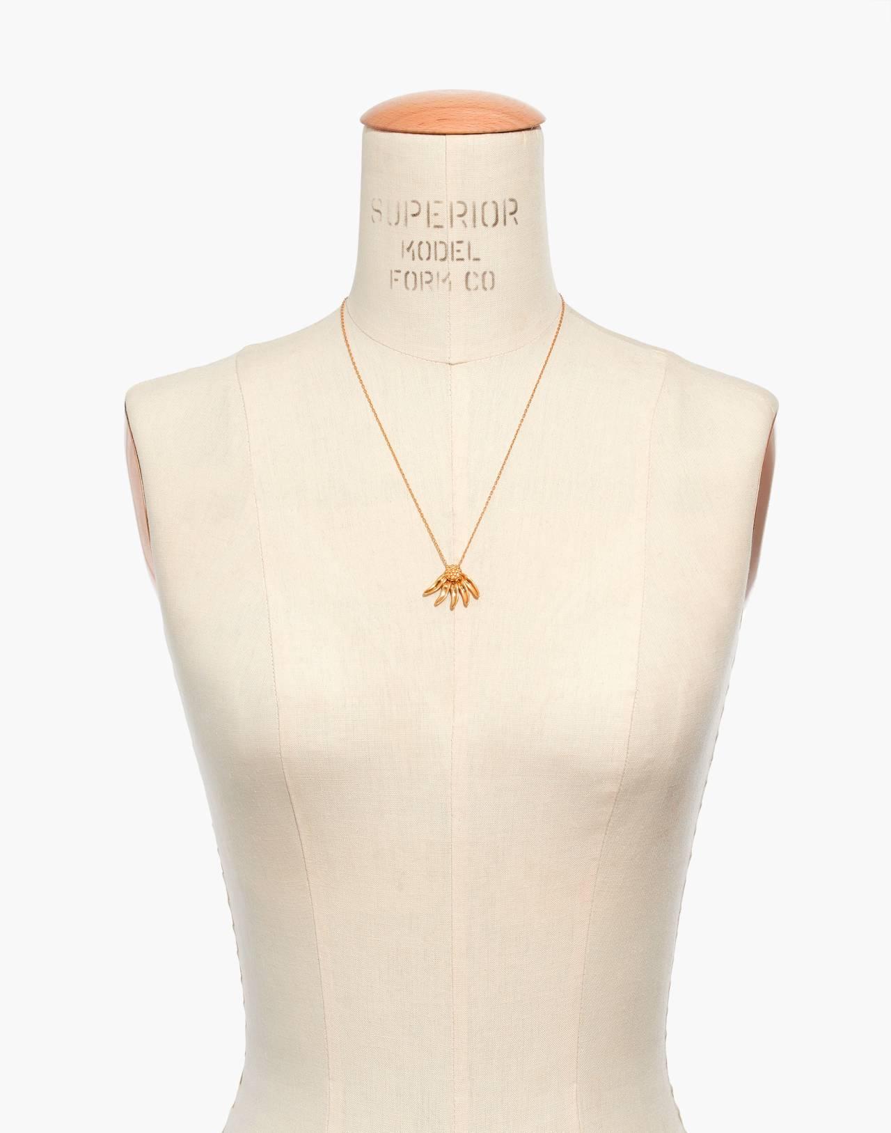 Fallen Petals Necklace in vintage gold image 3