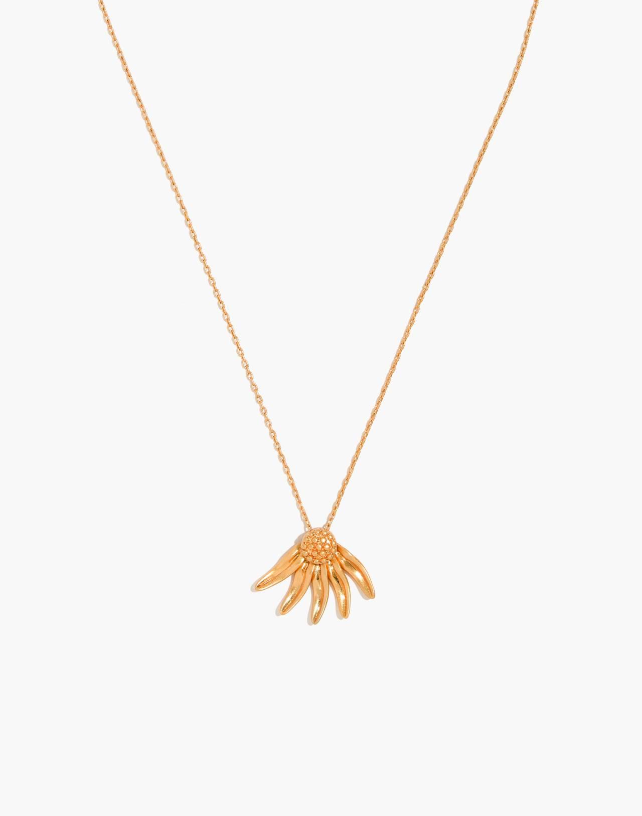 Fallen Petals Necklace in vintage gold image 1