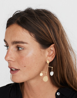 Mobile Statement Earrings in mixed metal image 2