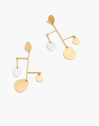 Mobile Statement Earrings in mixed metal image 1