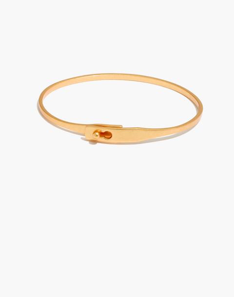 Delicate Glider Bangle Bracelet in vintage gold image 1