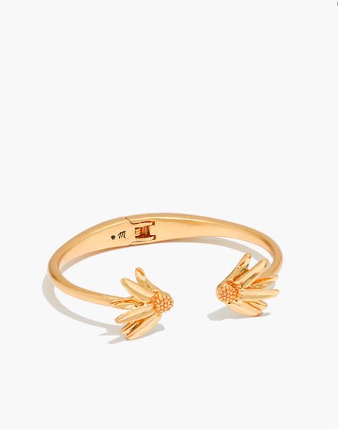 Fallen Petals Cuff Bracelet in vintage gold image 1