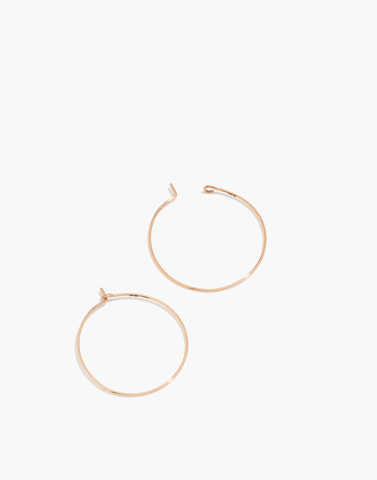 14k Gold-Filled Medium Hoop Earrings in 14k gold fill image 1