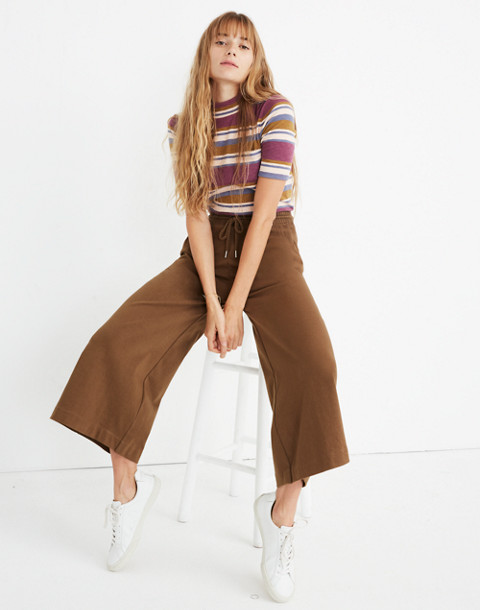 Chord Wide-Leg Pants in weathered olive image 2