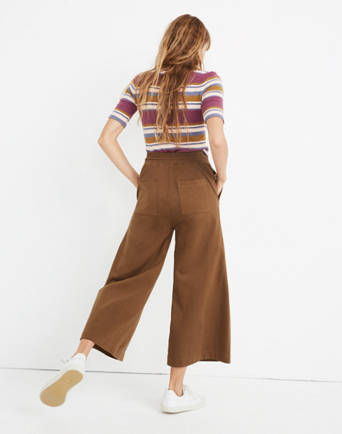 Chord Wide-Leg Pants in weathered olive image 3