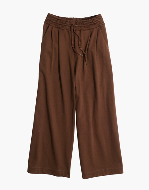 Chord Wide-Leg Pants in weathered olive image 4