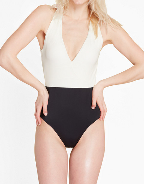 Summersalt® Deep Dive One-Piece Swimsuit in white image 3