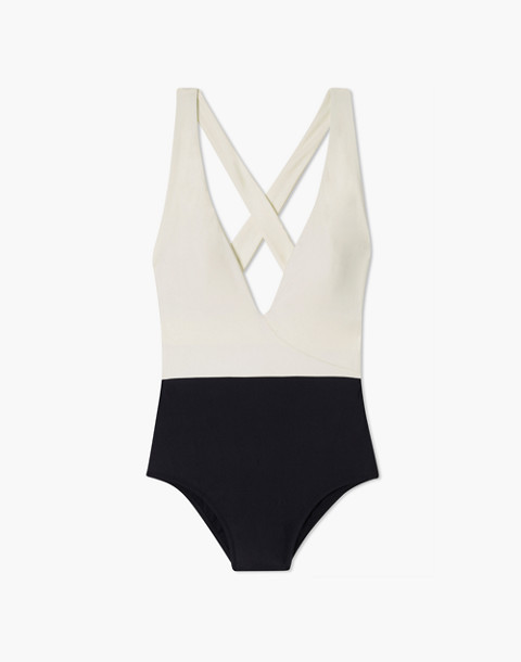 Summersalt® Deep Dive One-Piece Swimsuit in white image 4