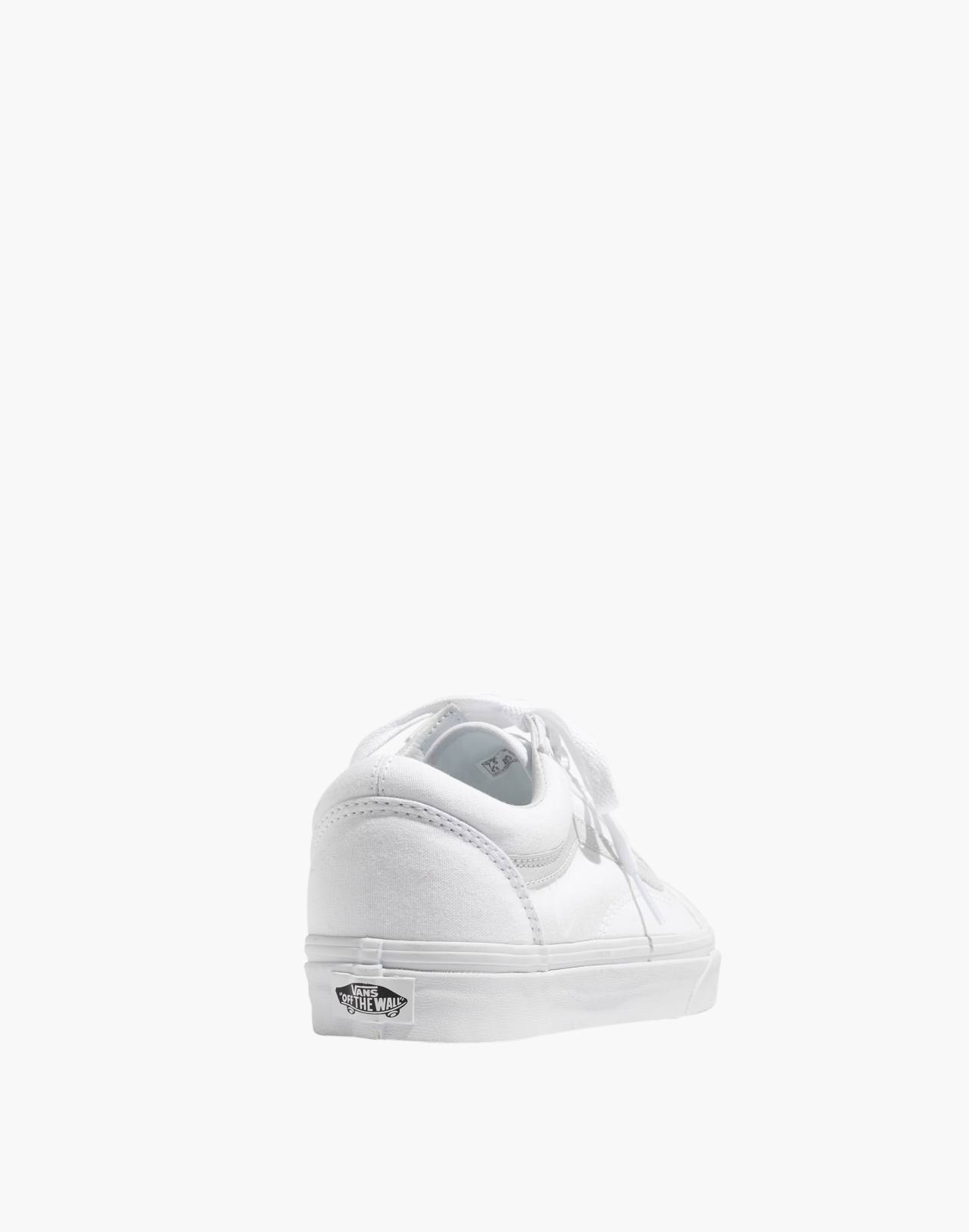 Vans® Unisex Old Skool Lace-Up Sneakers in Canvas and Suede in true white image 4