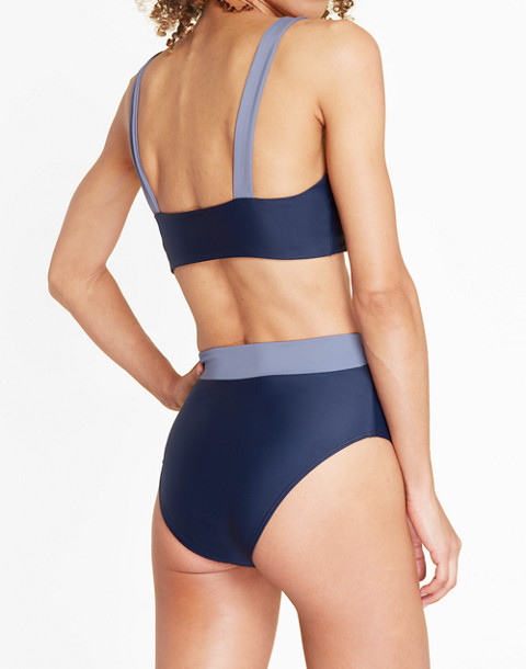 Summersalt® High-Leg High-Rise Bikini Bottom in Blue in blue image 2