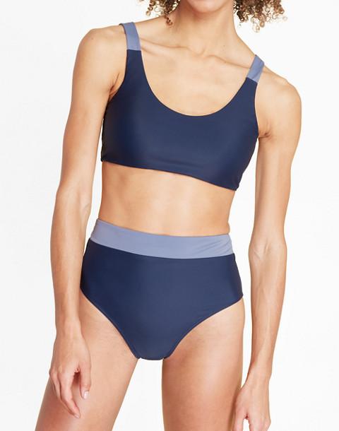 Summersalt® High-Leg High-Rise Bikini Bottom in Blue in blue image 3