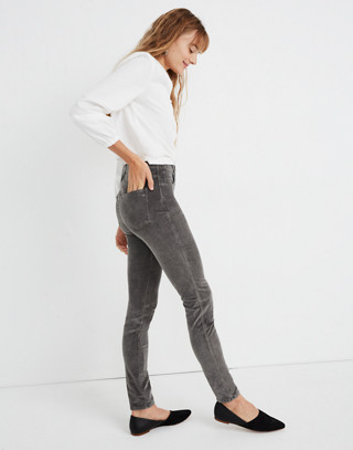 "Petite 10"" High-Rise Skinny Jeans: Corduroy Edition in smoked graphite image 3"