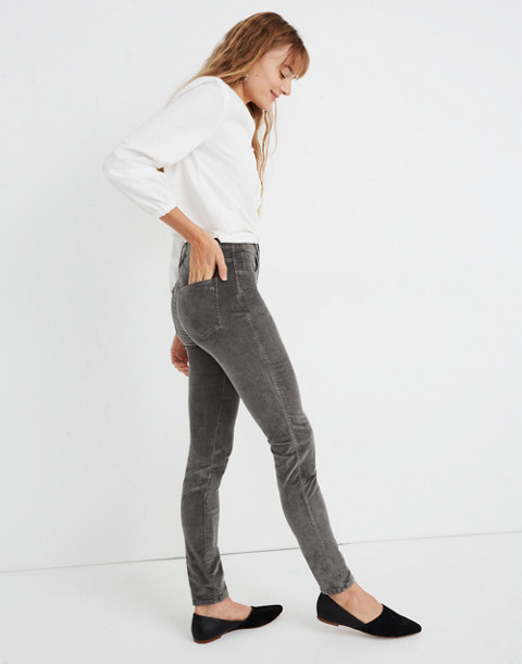 "10"" High-Rise Skinny Jeans: Corduroy Edition in smoked graphite image 3"