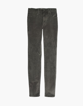 "Petite 10"" High-Rise Skinny Jeans: Corduroy Edition in smoked graphite image 4"