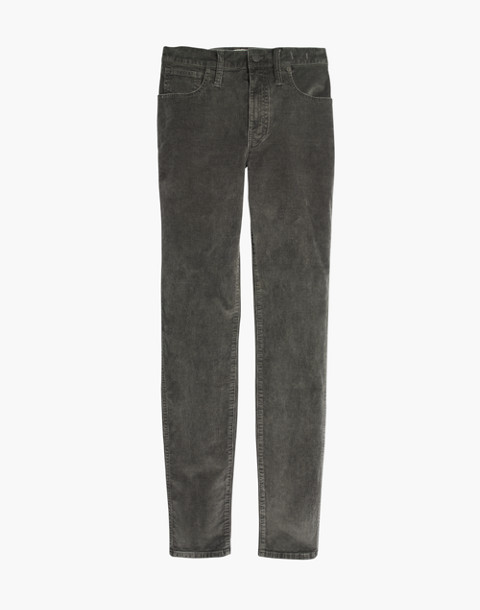 "10"" High-Rise Skinny Jeans: Corduroy Edition in smoked graphite image 4"