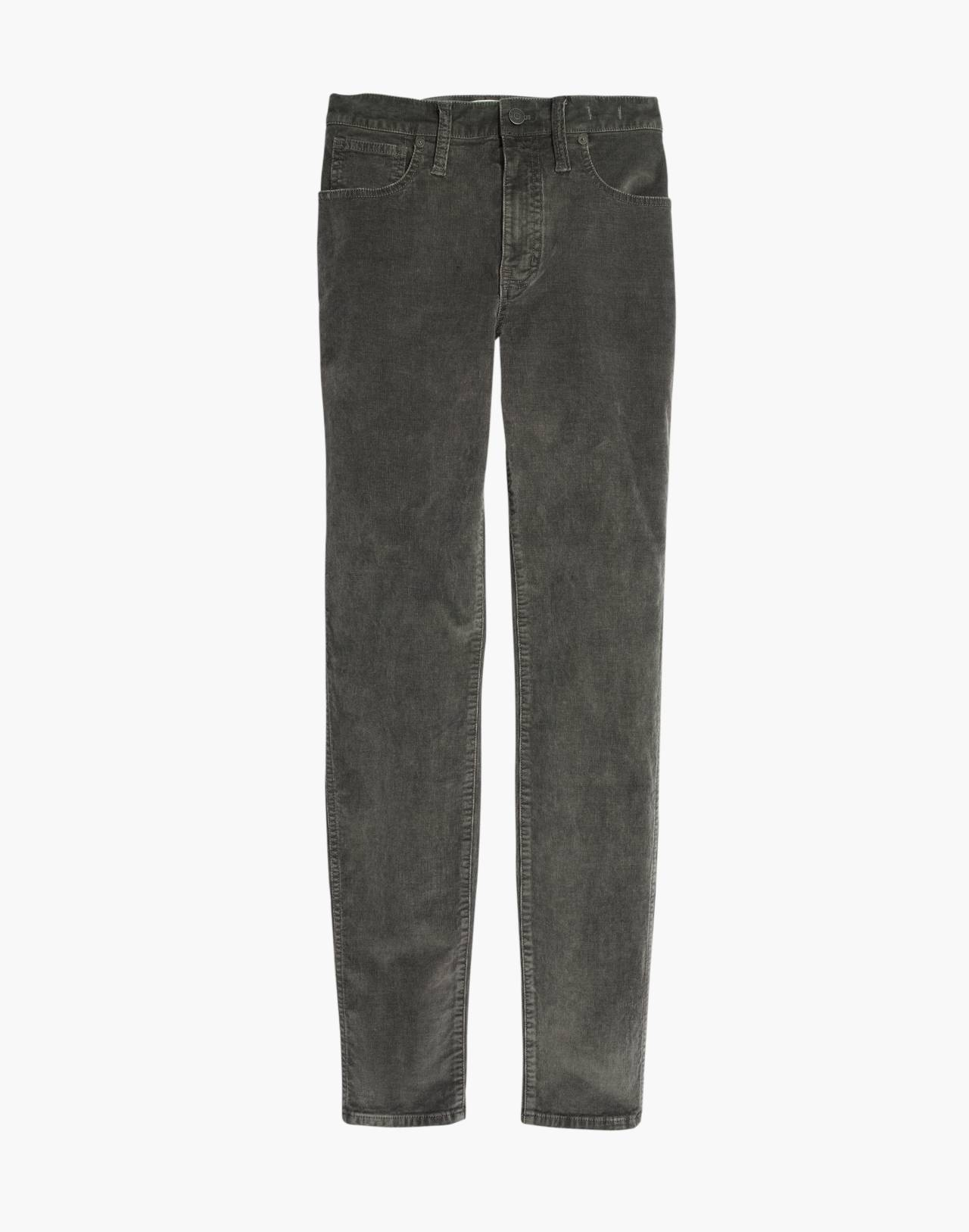 "Tall 10"" High-Rise Skinny Jeans: Corduroy Edition in smoked graphite image 4"