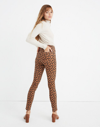 """Tall 10"""" High-Rise Skinny Jeans in Leopard Dot in leopard dot image 3"""