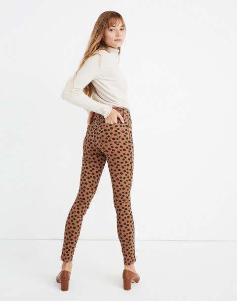 "Tall 10"" High-Rise Skinny Jeans in Leopard Dot in leopard dot image 3"