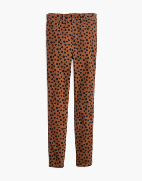 "Petite 10"" High-Rise Skinny Jeans in Leopard Dot in leopard dot image 4"