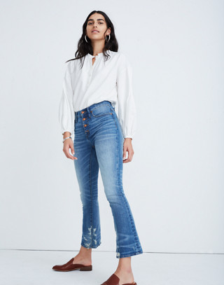 Cali Demi-Boot Jeans in Bess Wash: Button-Front Edition in bess wash image 1