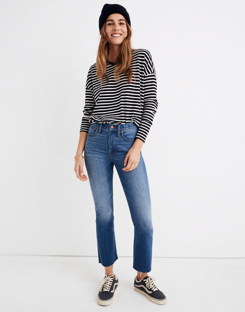Petite Cali Demi-Boot Jeans in Kemper Wash: Back-Seam Edition in kemper wash image 1