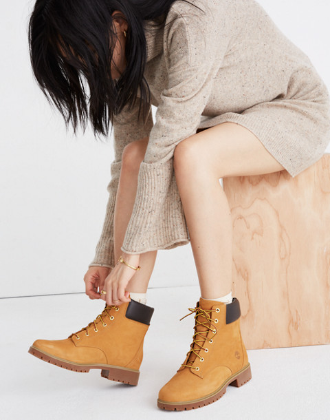 "Timberland® Jayne 6"" Waterproof Boots in wheat image 2"