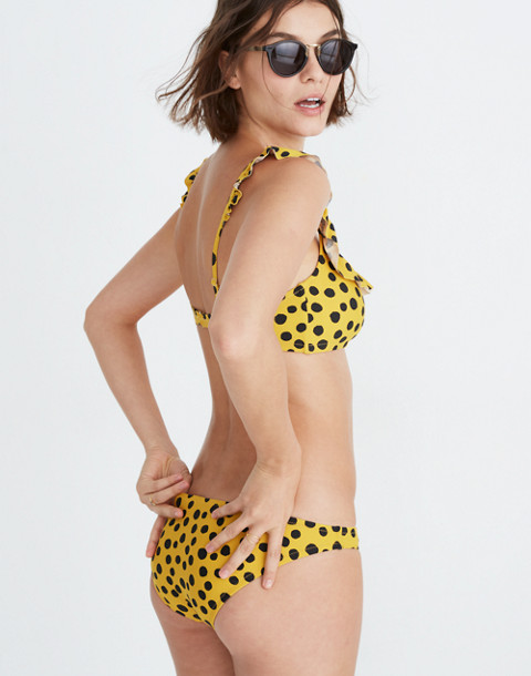 Lowrider Bikini Bottom in Leopard Dot in animal spot cumin image 2